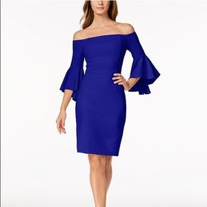 Calvin Klein Off the Shoulder Sheath Dress